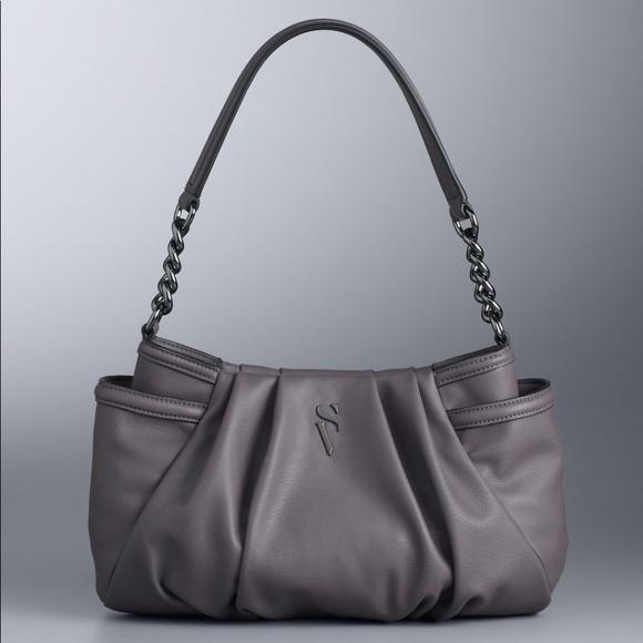 Vera Wang Handbags - Simply Vera Vera Wang Pleated Hobo Bag NWT